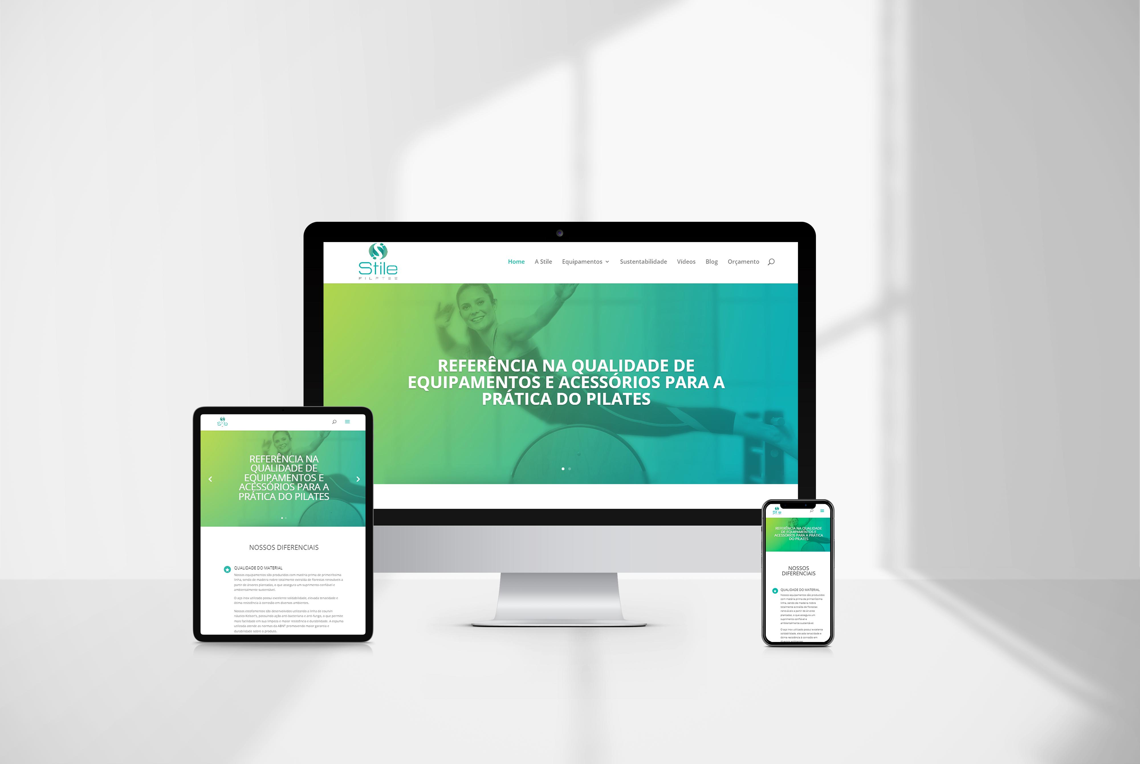 criacao de site Stile Pilates - agencia de marketing digital casanova digital
