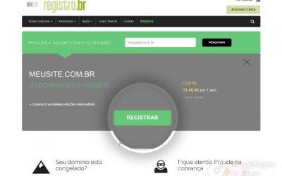 Como registrar o endereço do site na internet (REGISTRO.BR)