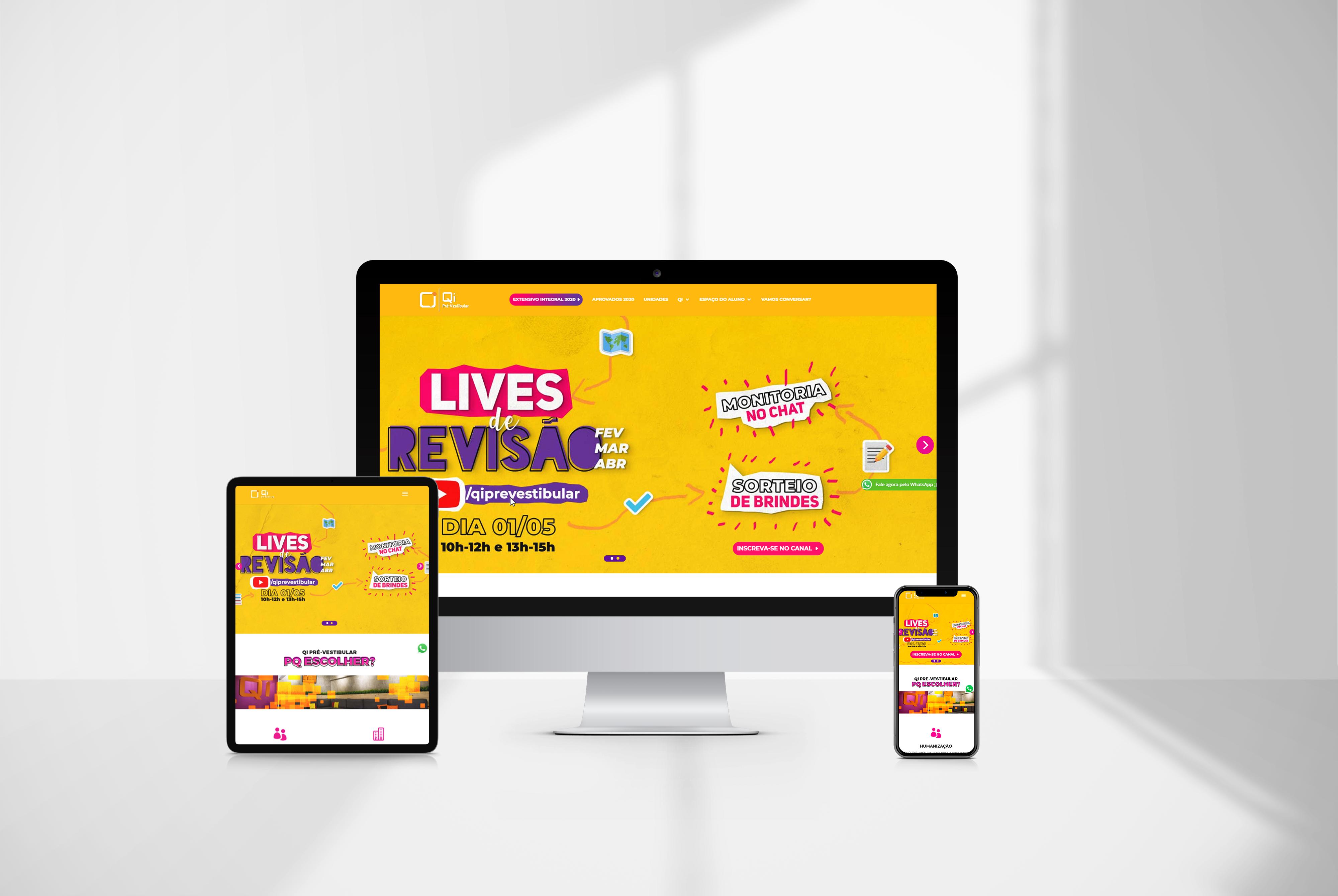 criacao de sites qi pre vestibular Criação de sites protótipo - agencia de marketing digital casanova digital